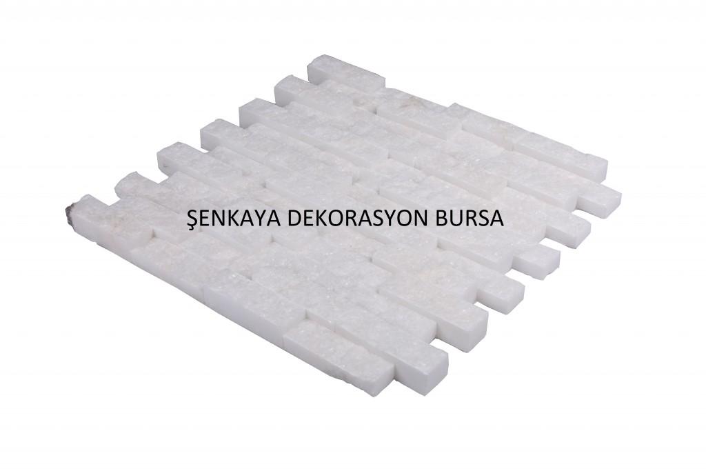 SNK 30 23×7 3 D Marble Beyaz Doğal Taş