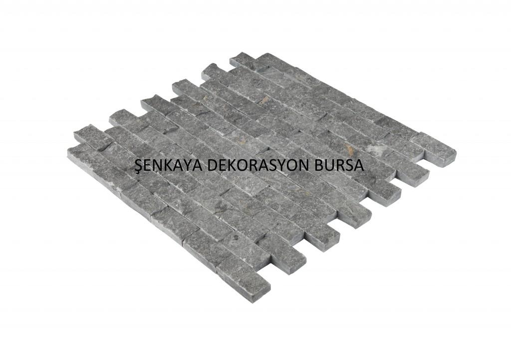 SNK 45 23×45 Travetine Siyah Doğal Taş